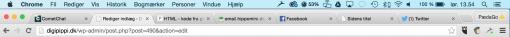 Alle hjemmesider har en titel, som kan ses øverst i browseren. Her i Chrome